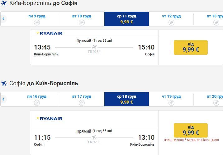 Ryanair: десяток направлений из городов Украины в Европу от €9! -